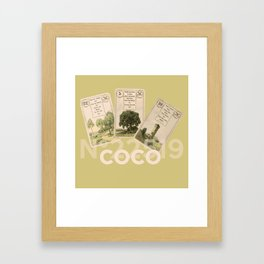 Mademoiselle Coco's desk Framed Art Print