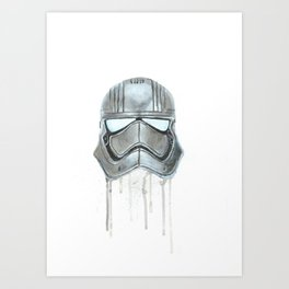 Captain Phasma - Empty Masks Art Print