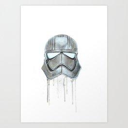 Captain Phasma - Empty Masks Art Print