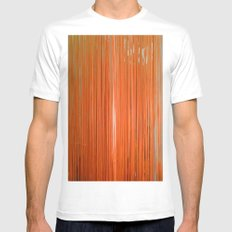 ORANGE STRINGS Mens Fitted Tee SMALL White