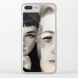 'Hepburn' Clear iPhone Case