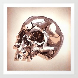 Ragged Skull Art Print