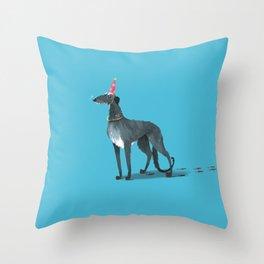 Party Animal : Scottish Deerhound Throw Pillow
