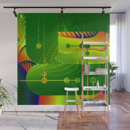 Great Green Frac 3 Wall Mural
