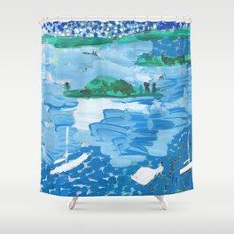 Clark Island Shower Curtain