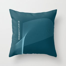 Argentina World Soccer Team Throw Pillow