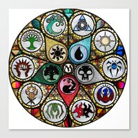 magic the gathering Canvas Prints featuring Magic the Gathering - Stained Glass by omgitsmagic