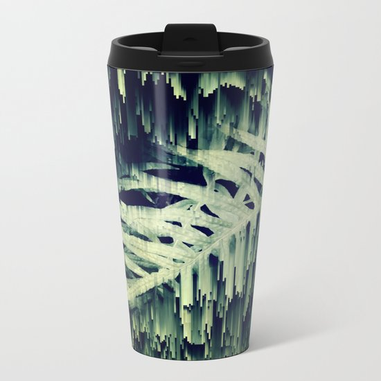 Ferns Glitches Metal Travel Mug