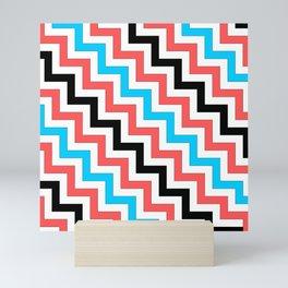Maritime diagonal chevron Mini Art Print