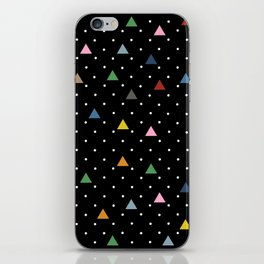 Pin Point Triangles Black iPhone Skin