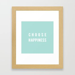Choose Happiness - Mint Framed Art Print