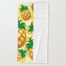 Pineapple Juicy Pattern Beach Towel