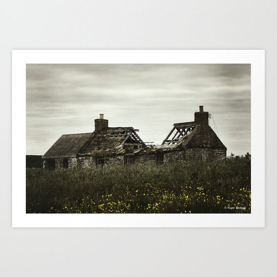 Busted Roof Art Print