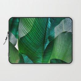 Palm leaf jungle Bali banana palm frond greens Laptop Sleeve