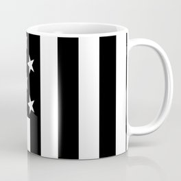 Black and White American Flag Coffee Mug