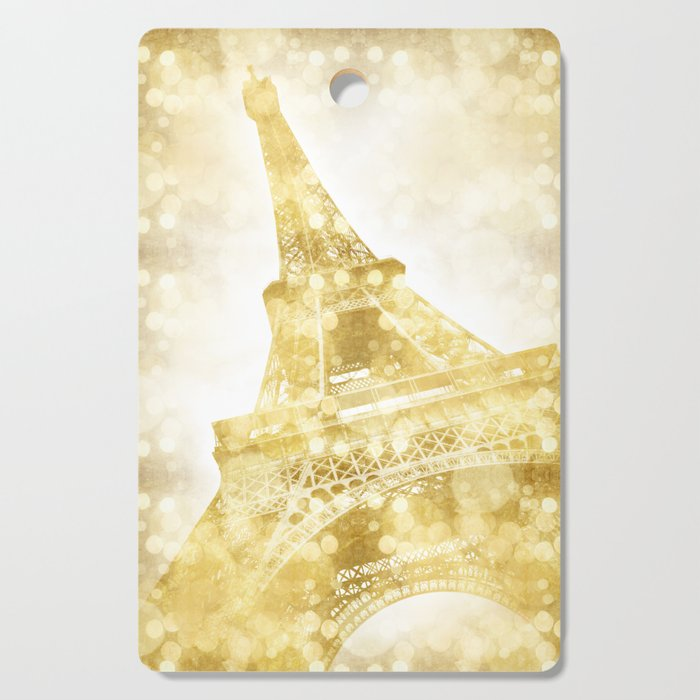 EIFFEL TOWER | golden painting Cutting Board