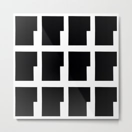 Original Black and White Geometric Pattern Metal Print
