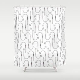 Fish Hook Pattern Shower Curtain