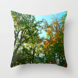 Bright Green Trees.  Throw Pillow