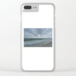 Stormy Sea Day  Clear iPhone Case
