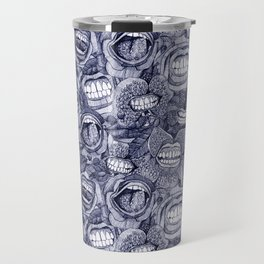 BITE ME roses and orchids INDIGO Travel Mug