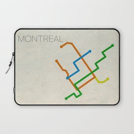 Minimal Montreal Subway Map Laptop Sleeve