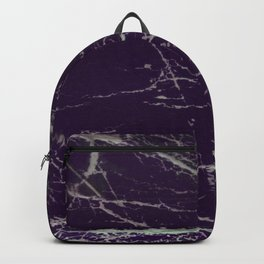 Purple Marble Crease Texture Design Backpack