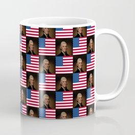 Flag and portrait:  Thomas Jefferson Coffee Mug
