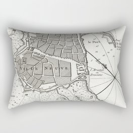 Plan of Barcelona - 1764 Rectangular Pillow