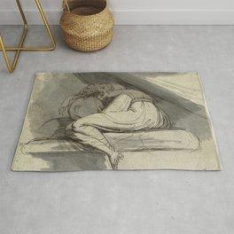 Johann Heinrich Füssli (Henry Fuseli) - Woman Sitting, Curled up Rug
