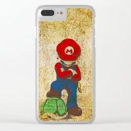 mario Clear iPhone Case