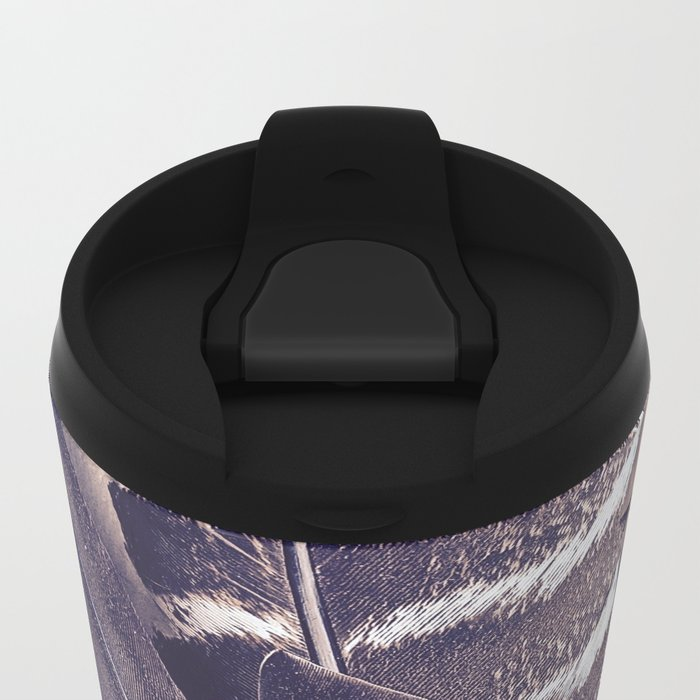 Sacred Smudging, Feather Fan Metal Travel Mug