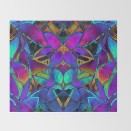 Floral Fractal Art G308 Throw Blanket