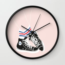 sneakers with socks Wall Clock