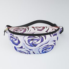 rose pattern texture abstract background in pink and blue Fanny Pack