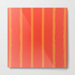 Mango Stripes Metal Print