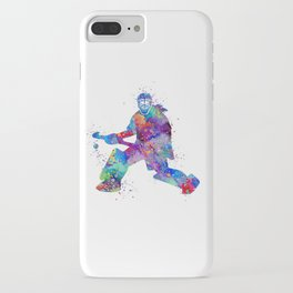 Girl Field Hockey Goalie Watercolor Print Sports Art Gifts Painting Home Decor iPhone Case