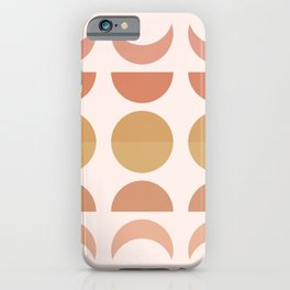 Cheerful  Moon Phases iPhone Case