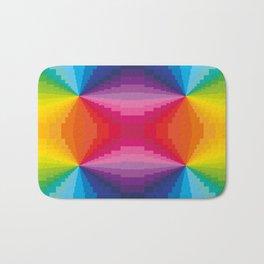 Abstract Rainbow Colors Bath Mat