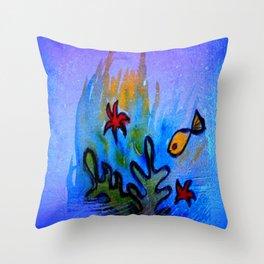 The Golden Fish Throw Pillow