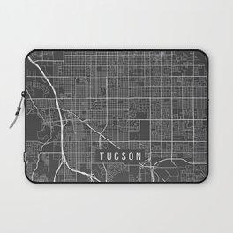 Tucson Map, Arizona USA - Charcoal Portrait Laptop Sleeve