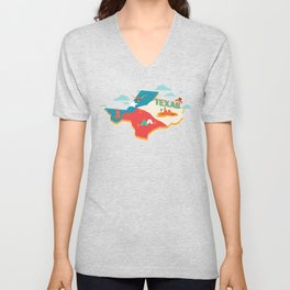 Texas Independence Day Unisex V-Neck