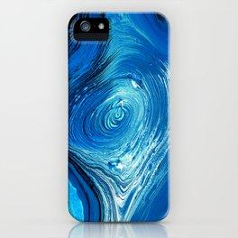 Blue Vortex iPhone Case