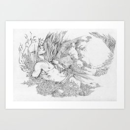 Rest In The Forest Art Print