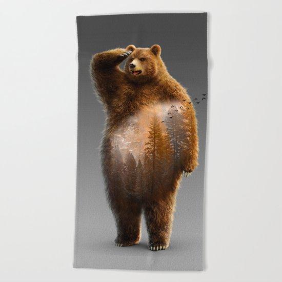 Bear X Beach Towel