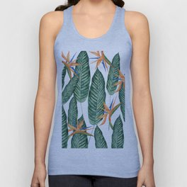 Banana And Flowers #society6 Unisex Tank Top