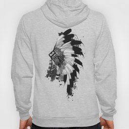 black and white headdress Hoody