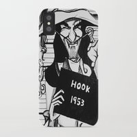 captain hook iPhone & iPod Cases featuring Captain Hook by Gabrielle Wall