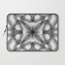Black and white mandala Laptop Sleeve