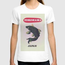 Yokohama Japan vintage travel poster T-shirt